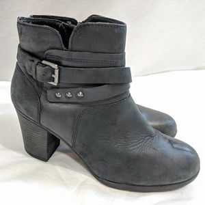 Rockport Black Leather Ankle Boots